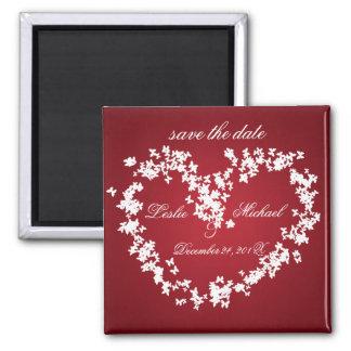 Love, butterflies heart, save the date fridge magnets