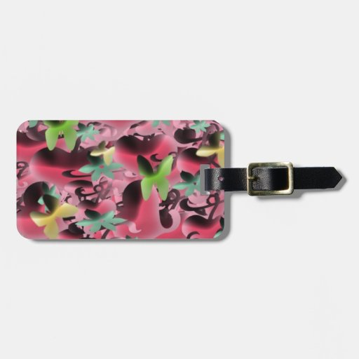 Love & Butterflies in Mauve Pink Tag For Bags