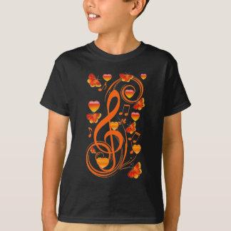 Love & Butterflies,Music notes_ T-Shirt