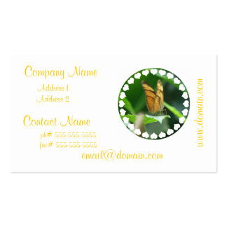 Love Butterfly Business Cards