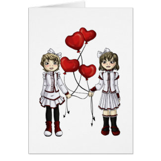 Love by a String Greeting Card