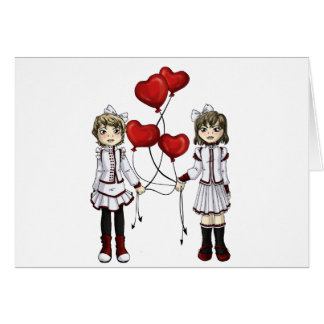Love by a String Greeting Cards