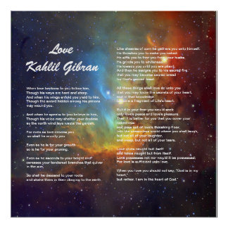 Love by Kahlil Gibran Poster