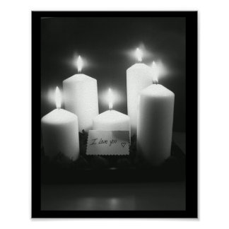 Love by the candle light poster