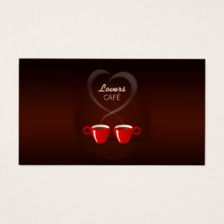 Love Cafe Coffee Shop business card