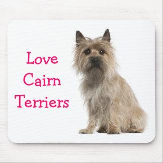 Love Cairn Terrier Puppy Dog Computer Mousepad