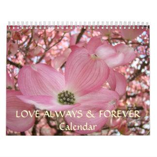 LOVE Calendar Always & Forever Flowers Valentines