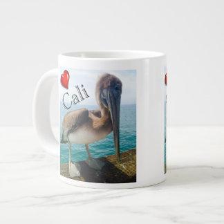 Love Cali pelican jumbo coffee mug