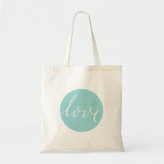 Love Calligraphy Budget Tote Bag