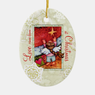 Love came down at Christmas Ceramic Ornament