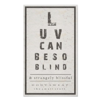 Love Can Be So Blind Poster