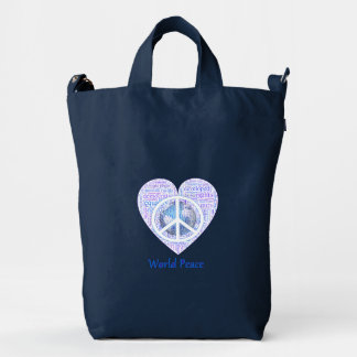 Love can bring world peace II Duck Bag