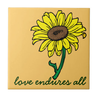 Love can overcome any obstacle ceramic tile