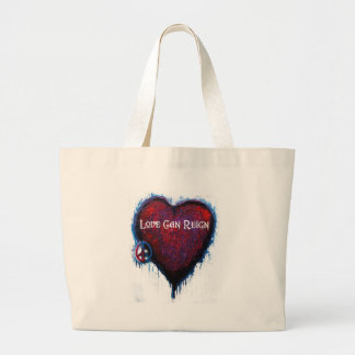 Love Can Reign Heart Products Jumbo Tote Bag