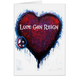Love Can Reign Heart Products Card