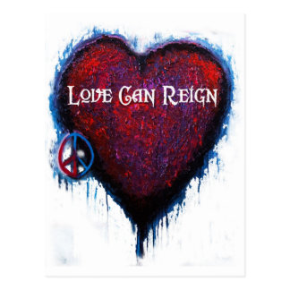 Love Can Reign Heart Products Postcard