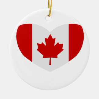 Love Canada Ceramic Ornament