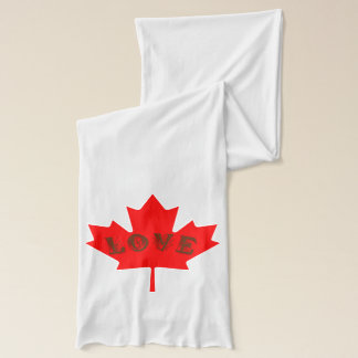 Love Canada Day red maple leaf scarf
