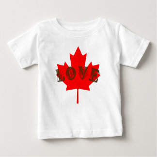 Love Canada Day red maple leaf shirt