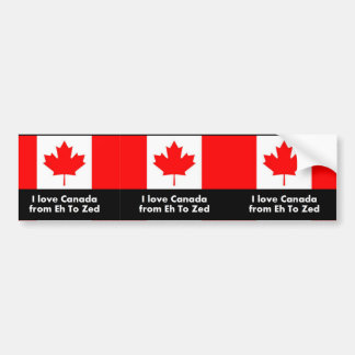 Love Canada from Eh to Zed Bumper Sticker
