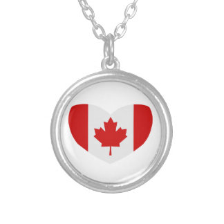 Love Canada Round Pendant Necklace