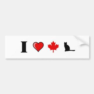 Love Canadian Pu Bumper Sticker