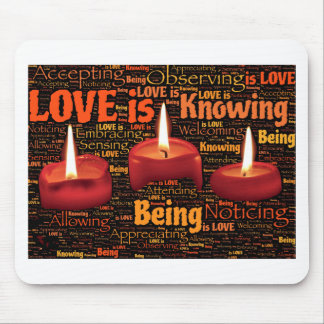 love candle mouse pad