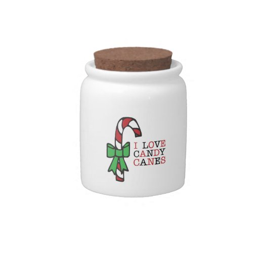 Love Candy Canes Candy Dish