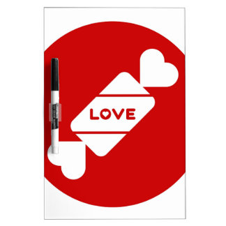 Love Candy Illustration Valentines Design Dry Erase Board