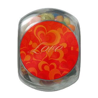 Love Candy Jar Glass Candy Jar