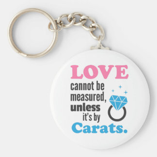 Love cannot be measured Diamond Ring Keychain