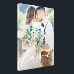 "Love Canvas Print<br><div class=""desc"">A custom canvas is a beautiful way to display your wedding photos. For more advanced customization of this design, simply select the &quot;Customize It&quot; button above! All photography is displayed as a sample only and is not for resale. This product is only intended to be purchased once sample photos are...</div>"