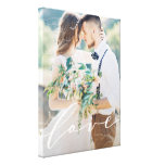 Love Canvas Print<br><div class='desc'>A custom canvas is a beautiful way to display your wedding photos. For more advanced customization of this design, simply select the &quot;Customize It&quot; button above! All photography is displayed as a sample only and is not for resale. This product is only intended to be purchased once sample photos are...</div>