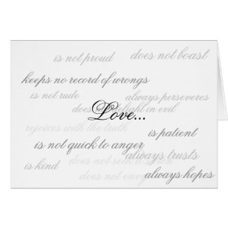 Love... Stationery Note Card
