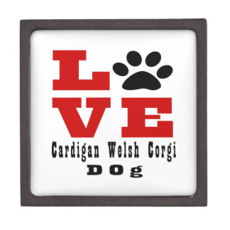 Love Cardigan Welsh Corgi Dog Designes Jewelry Box