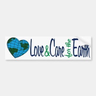 Love & Care for the Earth Bumper Sticker
