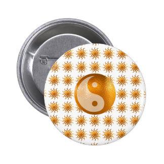 LOVE Care : Sun Energy n YIN YANG Balance Pinback Buttons