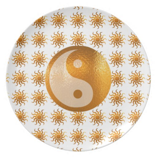 LOVE Care : Sun Energy n YIN YANG Balance Dinner Plate