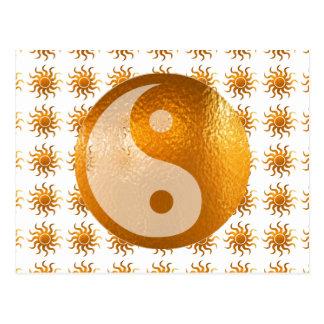 LOVE Care Sun Energy n YIN YANG Balance Postcards
