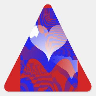 Love & Care_ Triangle Sticker