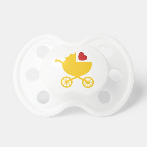 Love Carriage Gender Neutral Baby Shower Gift Pacifiers