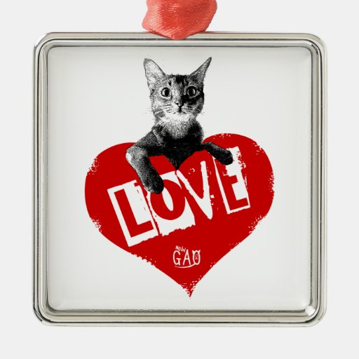 Love Cat クリスマスオーナメント