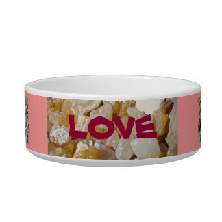 Love Cat Bowls Valentines gifts Pink Agates Shells