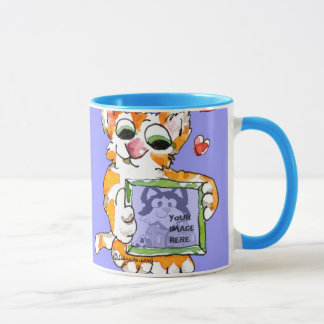 Love Cat Heart Mug to Personalize