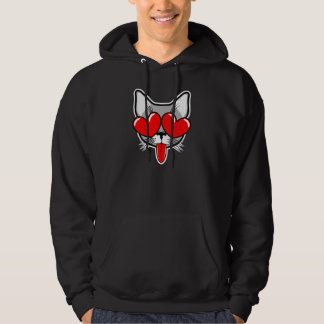 Love Cat Hooded Pullover