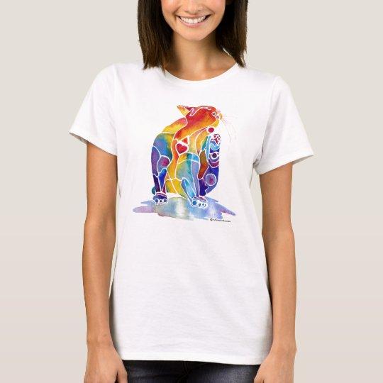 Love Cat in Rainbow Colors T-Shirt