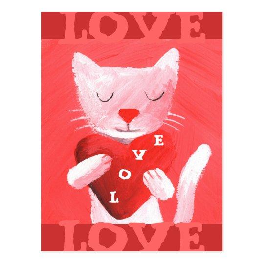 love cat postcard