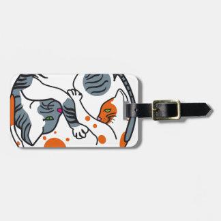 Love cats bag tag