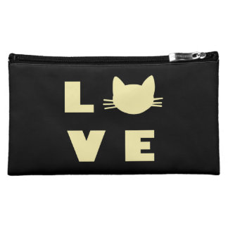 Love Cats (Black) Cosmetic Bag