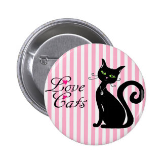 Love Cats Button